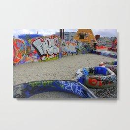Neon Chains Metal Print