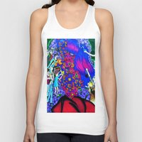 techno Tank Tops featuring Techno Giants by Jaz The Spaz