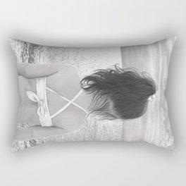 Facing Immensity Rectangular Pillow