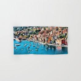 Côte d'Azur - French Riviera, France ocean landscape Hand & Bath Towel