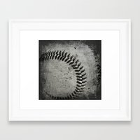 baseball Framed Art Prints featuring Baseball by Christy Leigh
