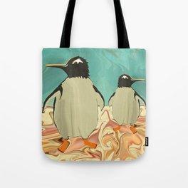 Penguins in Paradise Tote Bag