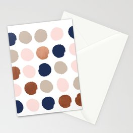Polka dots abstract minimalist painting bronze copper gold metallic dot Stationery Cards