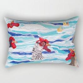 Chicken Dipping Rectangular Pillow