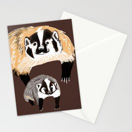 American badger Stationery Cards