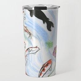 Feng Shui - 9 Lucky Carp Travel Mug