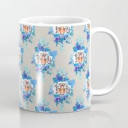 Tiger splatter pattern grey Coffee Mug