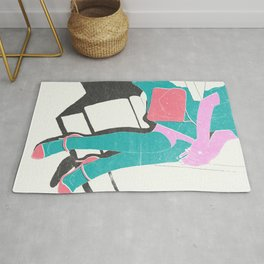 legs (lost time, risograph) Rug