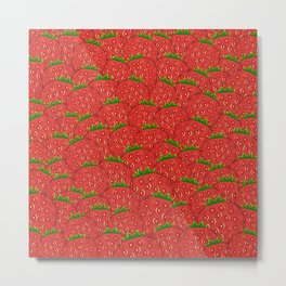 Strawberry Patch Metal Print