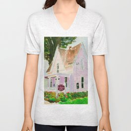Pink House Cafe Unisex V-Neck