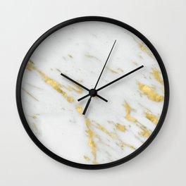 Treviso gold marble Wall Clock