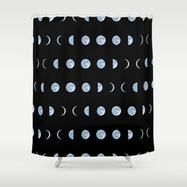 Moon Phases Shower Curtain