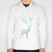 free Hoodies featuring Blue Deer by Huebucket