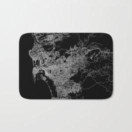 san diego map Bath Mat
