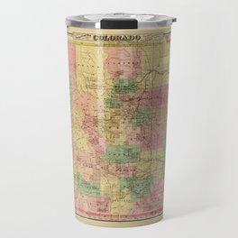 Colton's Sectional Map of Colorado (1878) Travel Mug