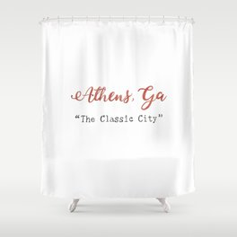 The Classic City Shower Curtain