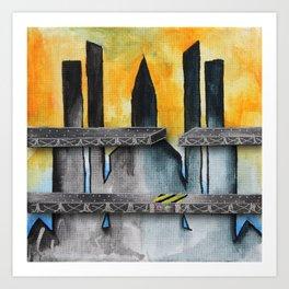 Construction Site #1 Art Print