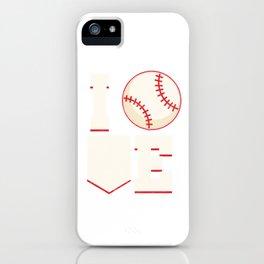 Baseball Player Baseball Pitcher I Love Baseball Fielder  iPhone Case