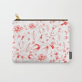 Watercolor KOI Fish in red Carry-All Pouch