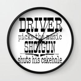 Driver picks music Wall Clock