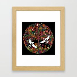 tree of life black Framed Art Print