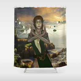 Fairy with flowers Shower Curtain