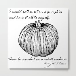 Thoreau's Pumpkin Metal Print