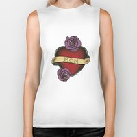mom Biker Tanks featuring Mom by CCL Works
