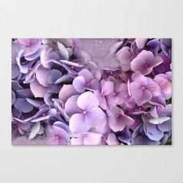 Dreamy Lavender Purple Hydrangeas  Canvas Print