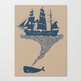Exhaling Flotsam Canvas Print