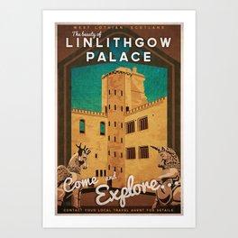 Linlithgow Palace, Scotland Art Print