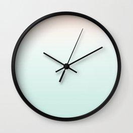 #ccebe2+#fdeadf Wall Clock