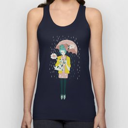 Walking the Dog Unisex Tank Top