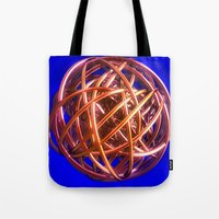 the wire Tote Bags featuring Wire Ball by Brian Raggatt