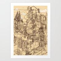 San Francisco! (Dusty) Art Print