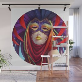 Masked in Color Wall Mural