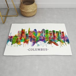 Columbus Ohio skyline Rug