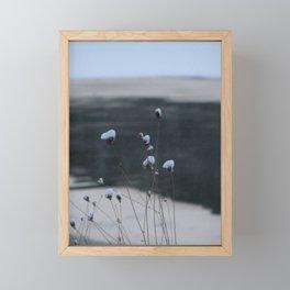 Snow-Covered Buds Framed Mini Art Print