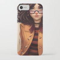 olivia joy iPhone & iPod Cases featuring Olivia by Rafa ArSen