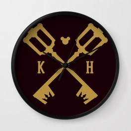Crossed Keys Wall Clock