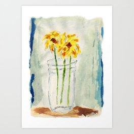 Still Flowers Art Print