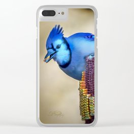 Thanksgiving Blue Jay Clear iPhone Case