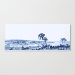 Lake Champlain 1850 (Cyan Blue) Canvas Print