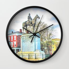 Richmond VA,Stonewall Jackson Monument,Richmond Virginia Wall Clock