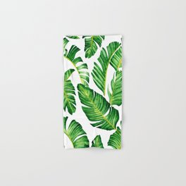 Banana Leaves pattern in watercolor Hand & Bath Towel