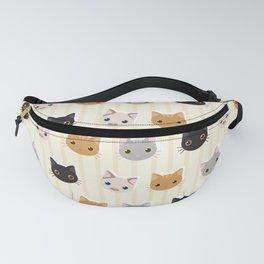 Cute Kitten & Stripes Pattern Fanny Pack