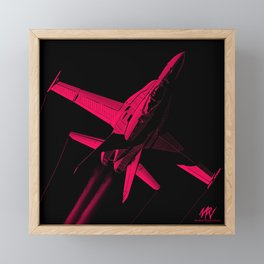 Red INKTOBER FA-18 Hornet Framed Mini Art Print