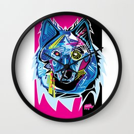 Lazer Wolf Wall Clock