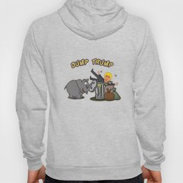 Funny Elephant-Dump Trump Hoody
