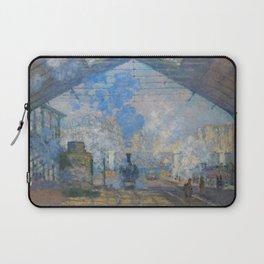"""Claude Monet """"La Gare Saint-Lazare"""" Laptop Sleeve"""